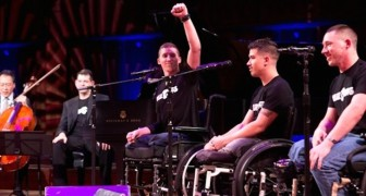 Former soldiers found the courage to get on stage. When the music starts? I've got chills!