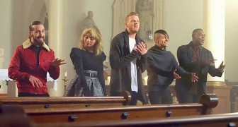 They sing in a church: their hymn will give you a thrill!