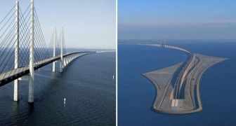 Metà sospeso, metà sotto il mare: ecco il ponte impossibile tra Danimarca e Svezia