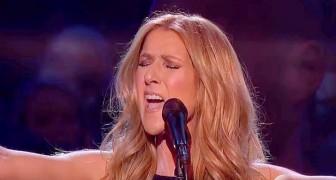 Celine Dion singt einen Song für die Opfer von Paris: Das Publikum kann die Tränen nicht zurückhalten
