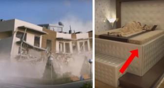 Llega un fuerte terremoto pero mira que cosa sucede con la cama de estas personas