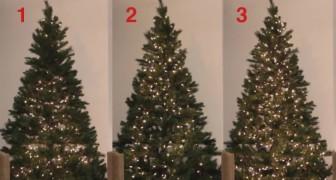 Scoprite 3 modi per mettere le luci sull'albero di Natale... Quale preferite?