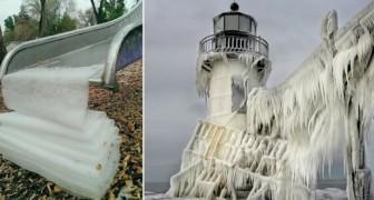 Deze ijssculpturen bewijzen dat de natuur in staat is om ongekende kunstwerken voort te brengen