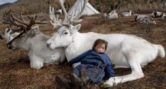 Prachtige foto's van een stam die in harmonie samenleven met rendieren