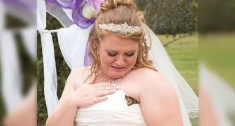 Una farfalla si posa sul vestito e la sposa scoppia in lacrime: il motivo vi stupirà