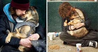 Queste foto dimostrano che un cane ti amerà sempre, a prescindere da quanti soldi tu abbia