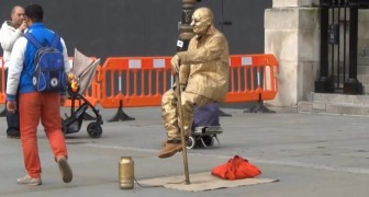 You've all have seen this man floating in the street, but do you know how his trick works?