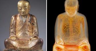 Sembrava una statua buddista, ma la TAC ha rivelato un contenuto inaspettato