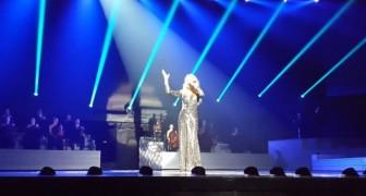 Durante un concierto Celine Dion canta Hello de Adele: su voz es una locura