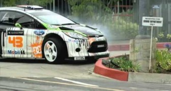 Ken Block and his Ford Fiesta
