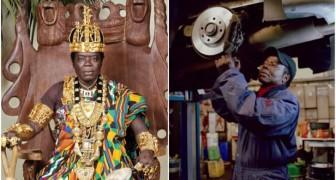 Voici le roi africain qui travaille comme mécanicien et gouverne son peuple sur Skype