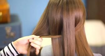 Sie teilt die Haare in gleiche Teile und flicht sie dann: Das Ergebnis sieht professionell aus