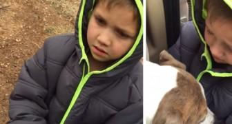 Hij vindt zijn hond terug na een maand: iedereen is sprakeloos door de reactie van het kind!