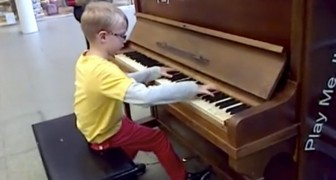 An eight-year-old boy plays Chopin without EVER having taken piano lessons! Incredibly talented!