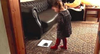 Zijn dochter vindt een gigantische spin in de woonkamer... maar niet alles is wat het lijkt!
