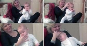 Una mama muestra como hace dormir a su bebe...en menos de un minuto!