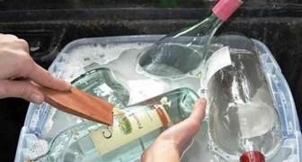 Rimuovete l'etichetta dalle bottiglie di vetro e scoprite queste originali idee di riciclo