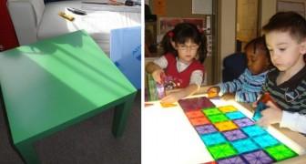 Des tables IKEA qui deviennent des tables lumineuses pour enfants: voici comment en faire une à la maison