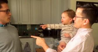 Der kleine sieht zum ersten Mal den Zwillingsbruder seines Vaters: Seine Reaktion bringt einen zum Schmunzeln