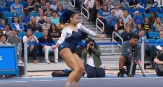 L'atleta unisce la danza alla ginnastica artistica... Il risultato finale è da urlo