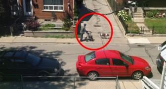 Een oude man wandelt over straat: wat de hond doet, getuigt van ware vriendschap
