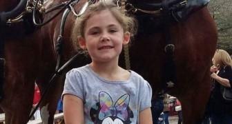 Fotografa la figlia vicino ad un cavallo: quando vede la foto per intero non crede ai suoi occhi!