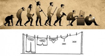De trieste waarheid met betrekking tot de evolutie van de mens in 16 afbeeldingen
