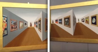 Look at this perspective painting: your brain will go on TILT!