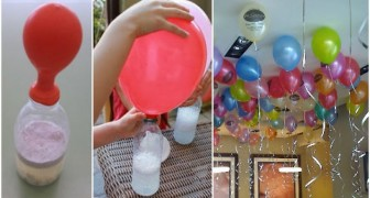 Here's a very clever trick to inflate balloons that float in the air... without using helium!