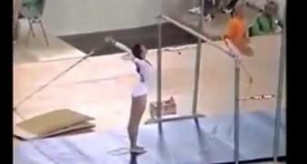 Sa performance n'est pas comme les autres: c'est une idole incontestée de gymnastique artistique
