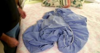 Avete rinunciato a piegare le lenzuola con angoli? Ecco il trucco definitivo
