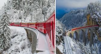 Een onvergetelijke reis: hier zijn de adembenemende beelden van de hoogste spoorlijn van Europa