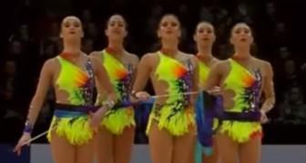 La squadra spagnola si prepara ad esibirsi: la sua prova è impeccabile e... vincente!