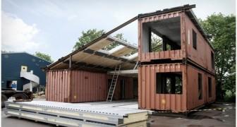 Il unit trois grands conteneurs et construit une villa avec des intérieurs étonnants