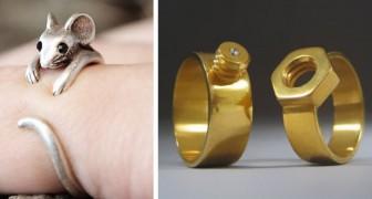 Dimenticate diamanti e pietre preziose: ecco alcuni tra gli anelli più originali mai creati