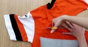 Ecco come riciclare una vecchia maglietta in modo originale e senza cucire