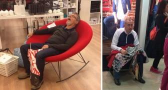 20 images d'hommes misérablement pris au piège dans l'enfer du shopping