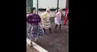 Three elderly ladies line up  --- But no one expected a performance like that!