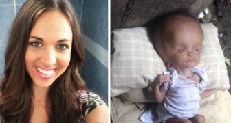 Sie lernt ein Baby kennen, das im Müll lebt und leidet. Die Geschichte der Rettung hat ein rührendes Happy End