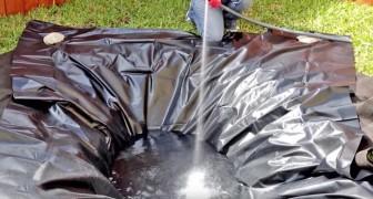 Faz um buraco no jardim. Quando acaba de encher de água o resultado é magnífico!