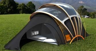 Beangstigt de camping je? Bekijk hier de tent die licht, warmte, elektriciteit èn internet produceert.