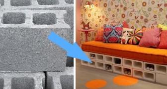 On les utilise sur les chantiers de construction, mais ils sont aussi excellents pour la décoration : voici 14 utilisations des blocs de béton
