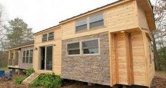 Ze bouwen een huis van slechts 37 m2, maar zijn niet van plan in te leveren op comfort: dit is het resultaat
