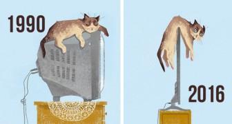 Katten en nieuwe technologie: op deze foto's zie je hoe gecompliceerd hun relatie is