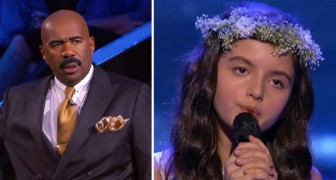 A 7-year-old sings a jazz song from 1954 ---- The TV presenter is very impressed by her talent!