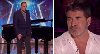 A pianist comes on  stage --- the judges offer a cold reception --- then everything changes!