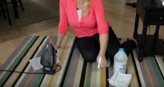 Zo verwijder je vlekken uit je tapijt zonder gebruik te maken van een stoomreiniger... en zonder wrijven!