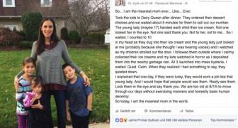 Sie kauft ein Eis für ihre Kinder und wirft es dann weg: der Grund hat Eltern aus aller Welt geteilt.