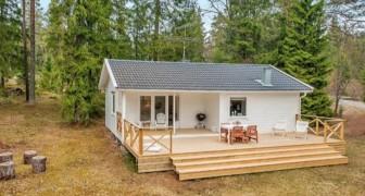Dit huis uit 1975 is ondergedompeld in de bossen van Zweden: een design juweeltje midden in de natuur!