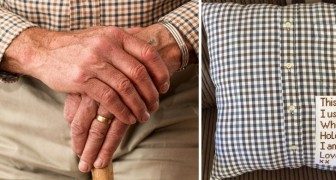 De overleden opa heeft een hartverwarmend bericht achtergelaten op een kussen